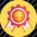 badge, award, medal, baseball, prize