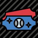 entertainment, games, sport, ticket icon