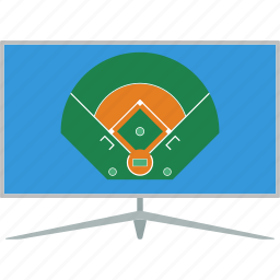baseball, design, field, game, sport, translation, tv icon