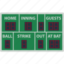 baseball, design, display, game, score, scoreboard, sport icon