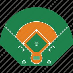 baseball, design, field, game, sport, top icon
