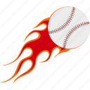 ball, baseball, design, fire, game, logo, sport icon