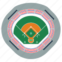 arena, baseball, design, game, sport, stadium, top icon