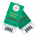 baseball, design, game, pass, sport, stadium, ticket icon