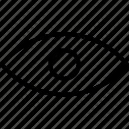 basic, eye, open, seen, visible icon
