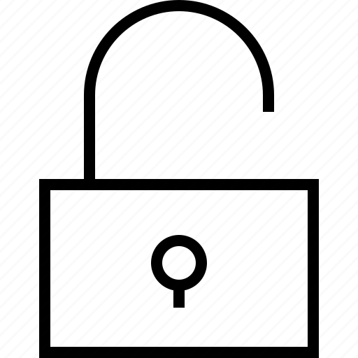 lock, open, safe, safety, secure, security icon