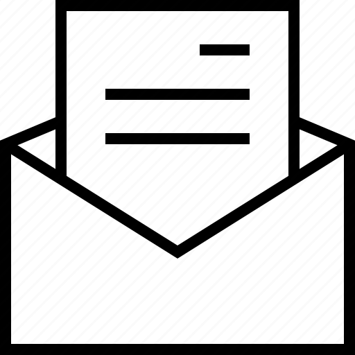 email, mail, message, open, text icon
