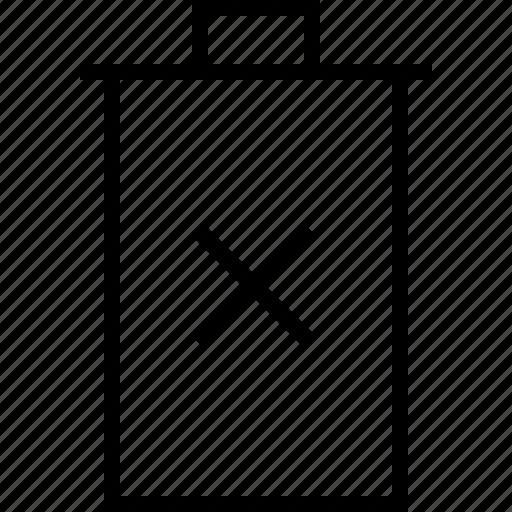 basic, bin, delete, remove, trash, trashcan icon