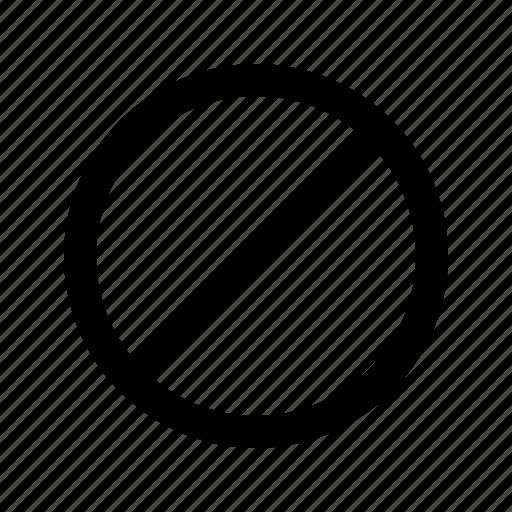 block, denied, lock icon