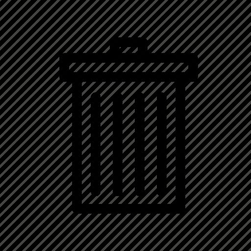 bin, delete, junk, rubbish, trash, trash bin icon