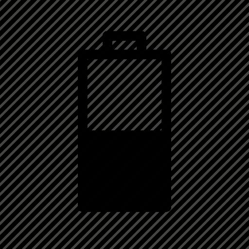battery, battery medium icon