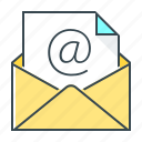 address, document, email, envelope, letter, mail icon