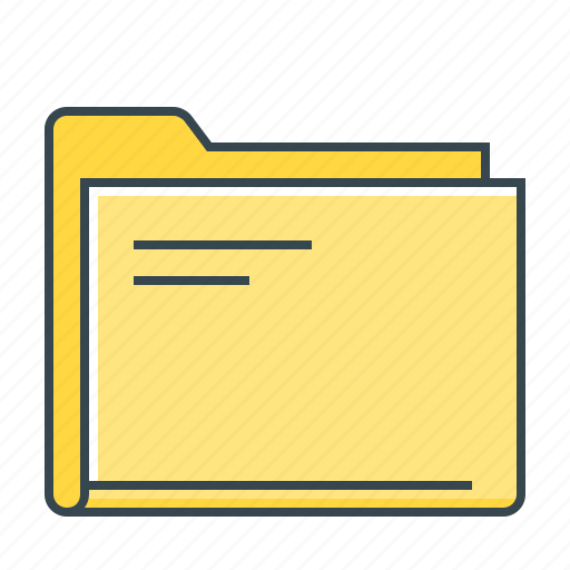 document, file, folder, storage icon