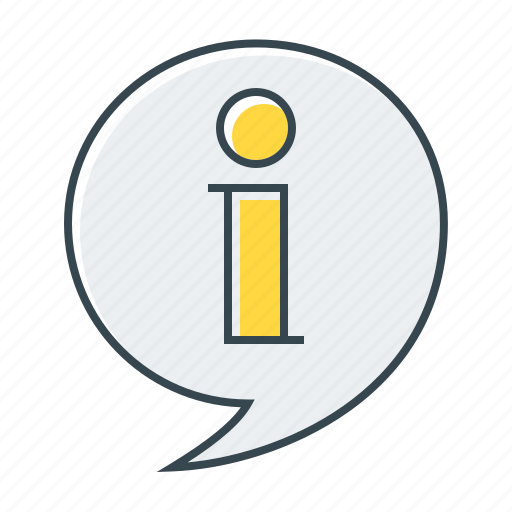 bubble, help, info, information, sign icon