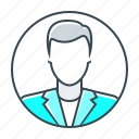 account, avatar, businessman, man, profile, user icon
