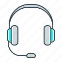 headphones, help, operator, service, support icon