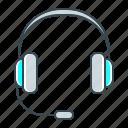 headphones, operator, support, help, service icon