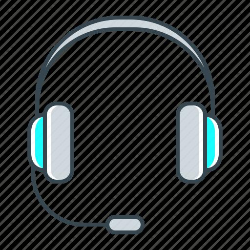 headphones, help, operator, service, support icon