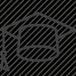 academic, cap, education, graduation, mortarboard icon