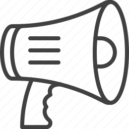 bullhorn, megaphone, notification icon