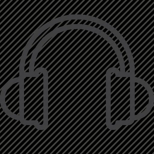 headphones, listen, sound icon