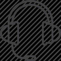 headset, helpline, support icon
