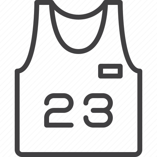 basketball, jersey icon