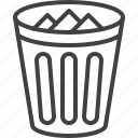 basket, bin, delete, trash icon