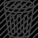 basket, bin, trash, delete