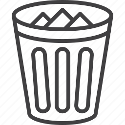 basket, bin, delete, trash icon