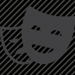 cinema, entertainment, masks, theater icon
