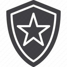 protection, shield, star icon