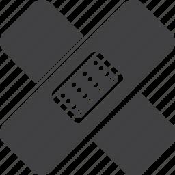 adhesive, aid, band, bandage icon