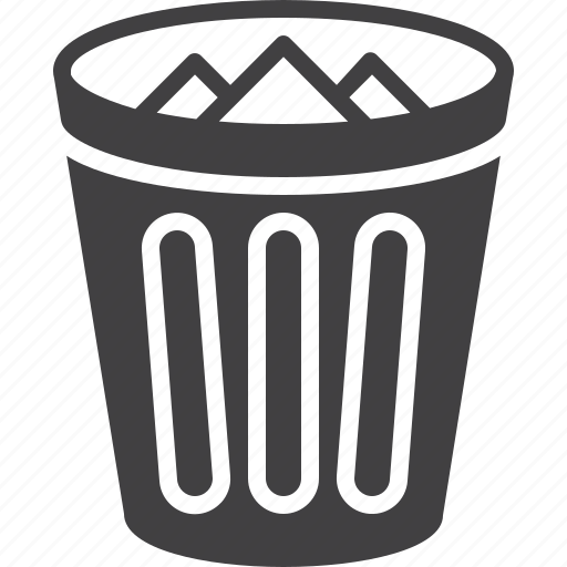 bin, delete, trash icon