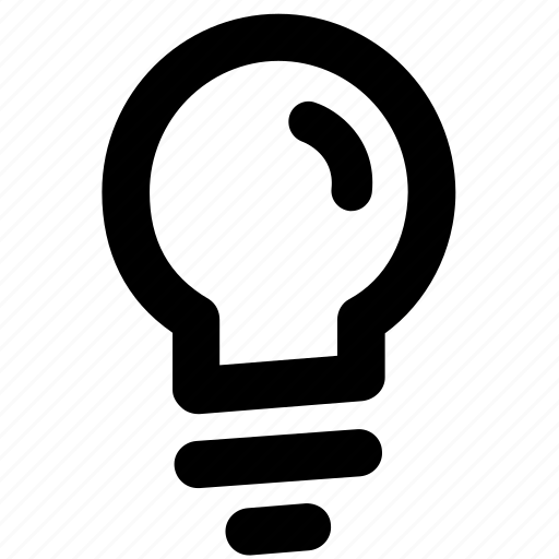 bright, bulb, idea, intelligent, light icon