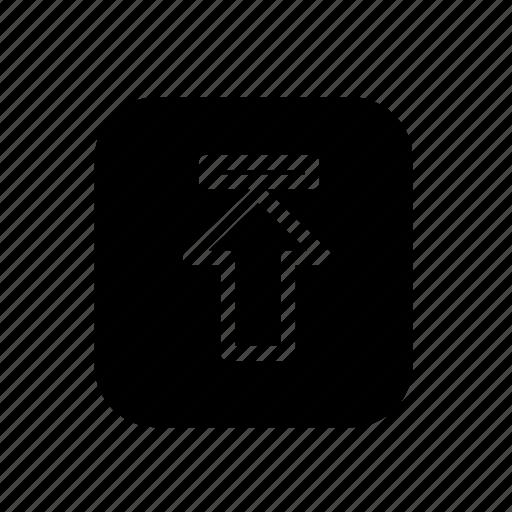 arrow, arrows, direction, up, upload, uploading, uploads icon