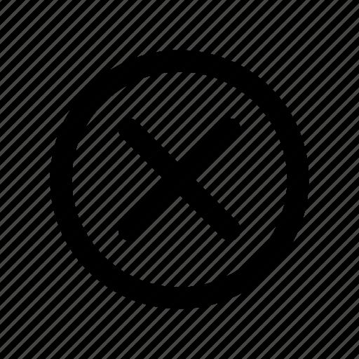 app, basic, close, disagree, false, no, wrong icon