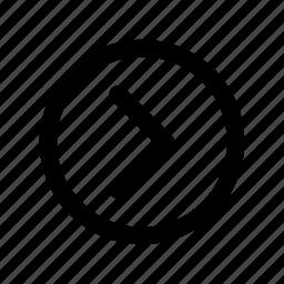 app, arrow, basic, forward, minimal, next, page icon