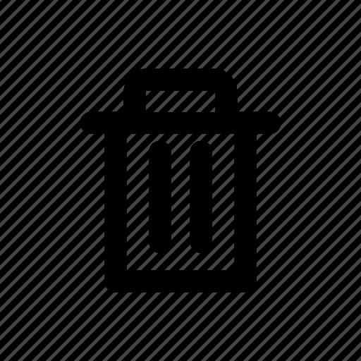 app, basic, bin, delete, minimal, recycle, trash icon
