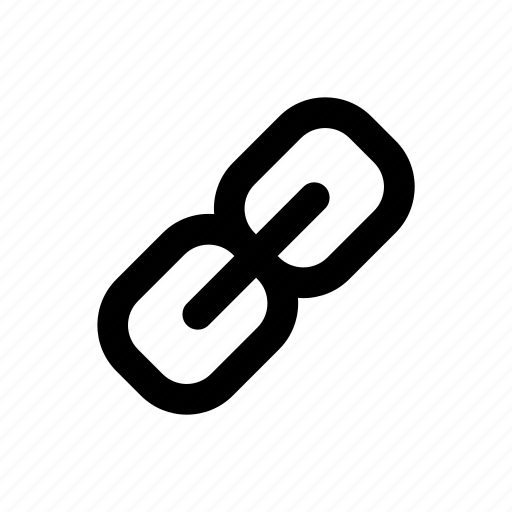 app, attachment, basic, chain, data, file, link icon