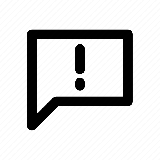 app, attention, basic, chat, message, minimal, notification icon