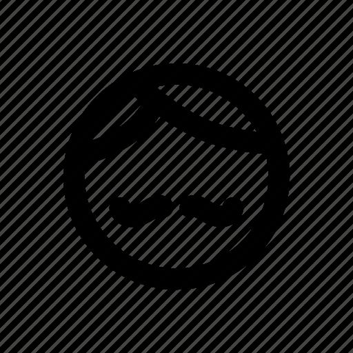 app, basic, father, man, minimal, moustache, profile icon