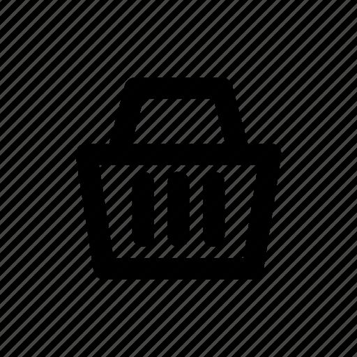 app, basic, basket, buy, cart, ecommerce, minimal icon