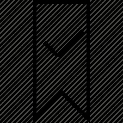 bookmark, checck icon