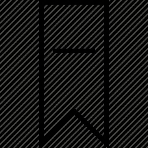 bookmark, minus icon