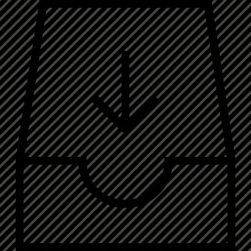 briefcase, download, server icon