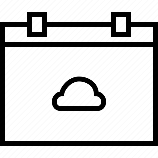 calendar, cloud, date, forecast, rain, weather icon