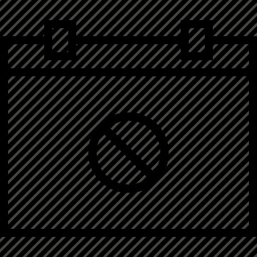 calendar, date, day, event, noaccess, schedule icon