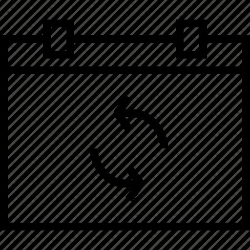 arrow, arrows, calendar, move, refresh, reload icon