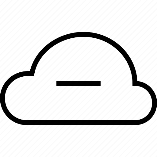 cancel, cloud, cloudy, minus, remove, weather icon